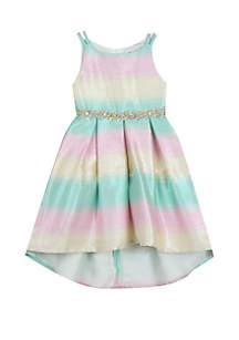 Girls 4-6x Stripe Social Dress