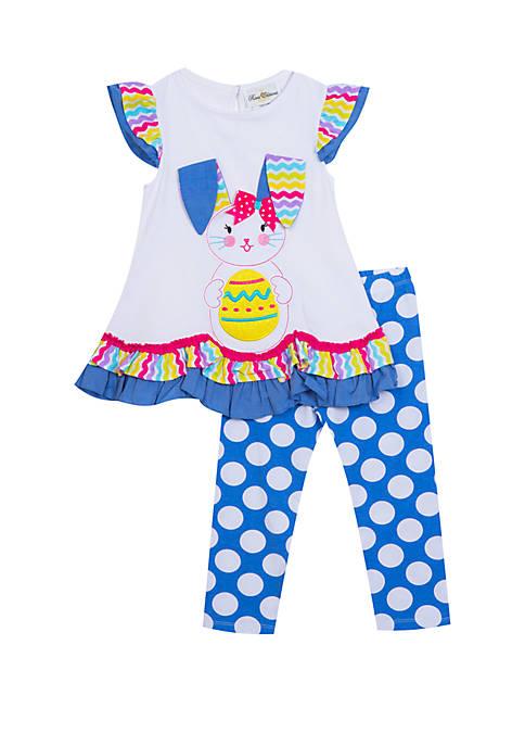Rare Editions Girls 4-6x Multi Polka Dot Bunny