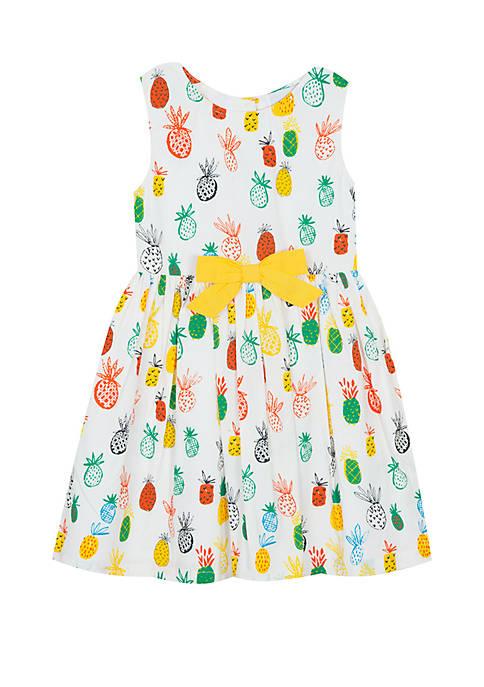 Rare Editions Girls 4-6x Pineapple Cotton Dress
