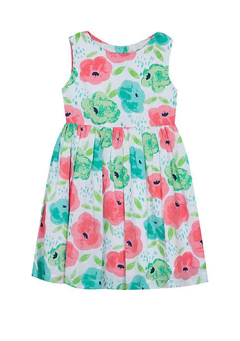 Girls 4-6x Poppy Clip Dot Floral Dress
