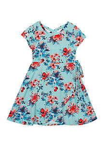 Girls 4-6x Short Sleeve Yummy Floral Dress