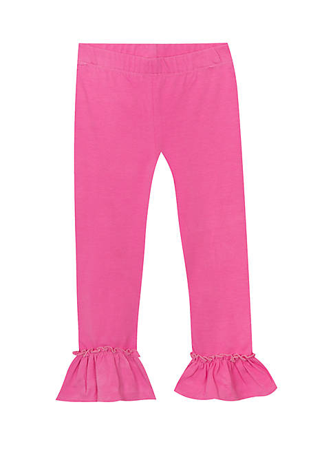 Girls 4-6x Solid Single Ruffle Capris