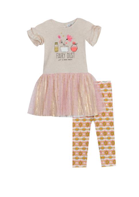 Rare Editions Girls 4-6x Fairy Dust Leggings Set