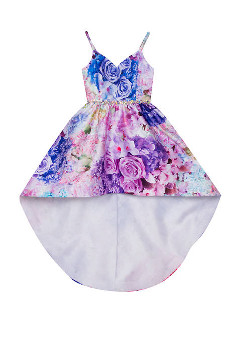 Rare Editions Girls 4-6x Sleeveless High Low Floral