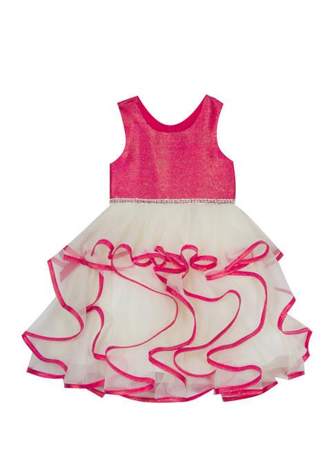 Rare Editions Girls 4-6x Iridescent Organza Dress