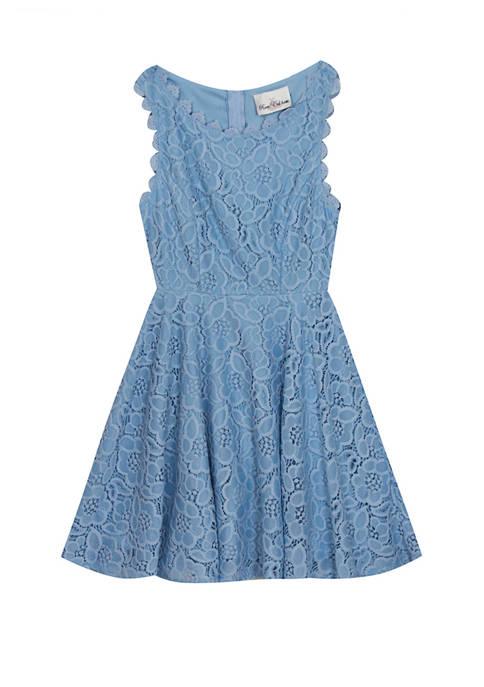 Rare Editions Girls 4-6x Sleeveless Crochet Skater Dress
