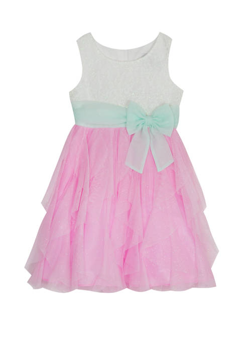 Rare Editions Girls 4-6x Sleeveless Cascading Dress