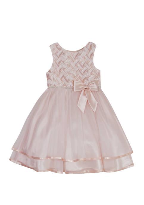 Girls 4-6x Sleeveless Basket Weave Dress