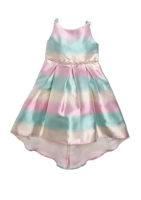 Rare Editions Girls 4-6x Sleeveless Stripe Dress