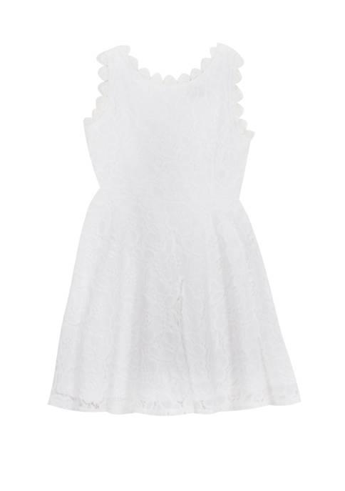Girls 4-6x Sleeveless Embroidered Dress