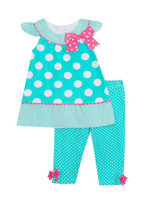 Counting Daisies Girls 4-6x Dot Print Knit Top