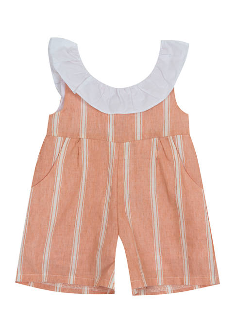 Counting Daisies Girls 4-6x Yarn Dyed Stripe Linen