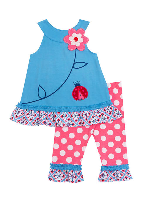 Counting Daisies Girls 4-6x Flower Top and Leggings