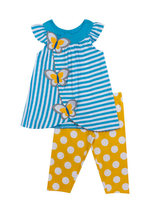 Girls 4-6x Stripe Yarn Dye Knit Top Set