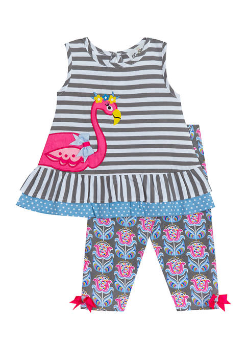 Counting Daisies Girls 4-6x Yarn-Dyed Stripe Top and