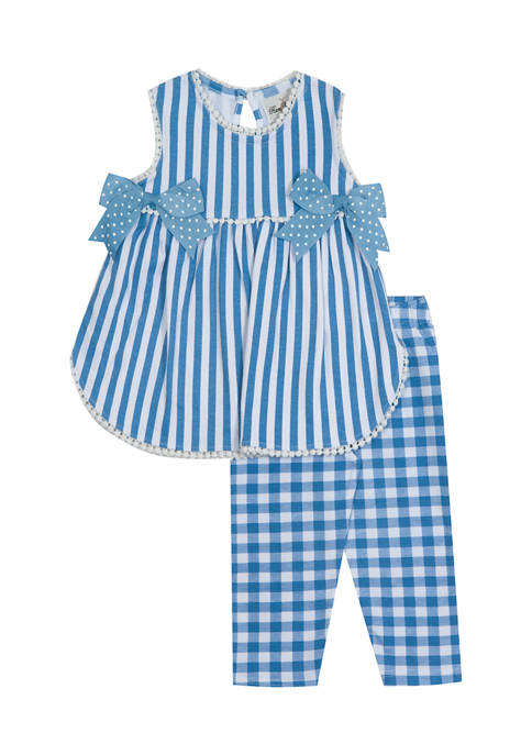 Counting Daisies Girls 4-6x Stripe Interlock Top and