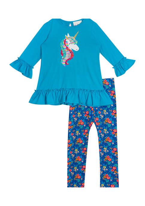 Girls 4-6x Unicorn Flip Sequin Set
