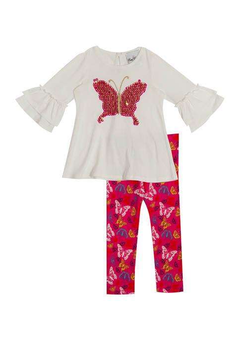 Girls 4-6x Butterfly Flip Sequin Set