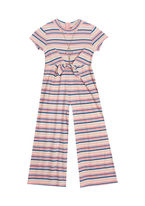 Rare Editions Girls 4-6x Rib Knit Jumpsuit with