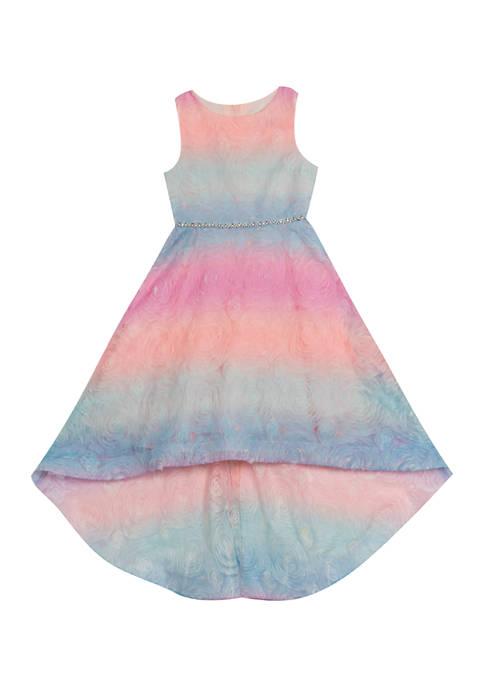 Rare Editions Girls 4-6x Ombré Soutache Dress