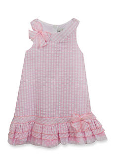Rare Editions Gingham Printed Shift Dress Girls 4-6x