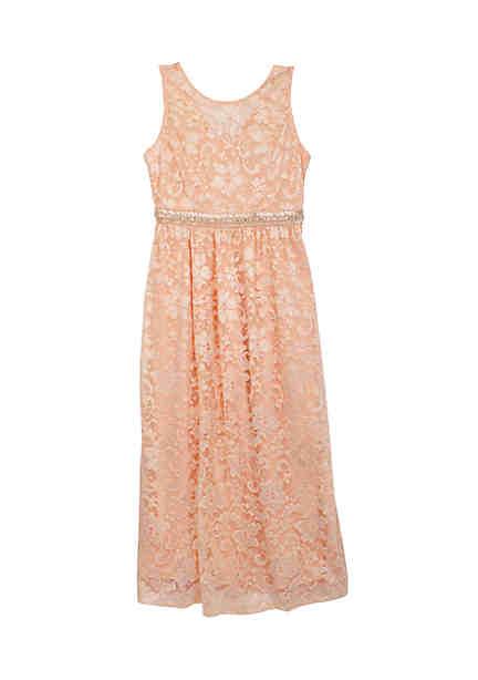8e30460e90e Rare Editions Allover Lace Maxi Dress Girls 7-16 ...