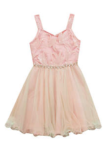 Sequin Tulle Party Dress Girls 7-16