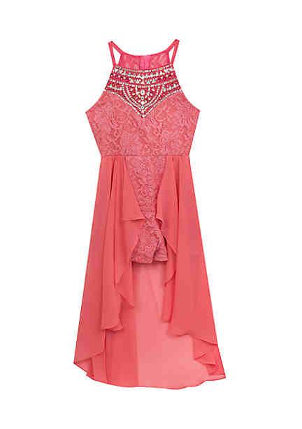c05eb919854 Rare Editions Lace Walk Through Dress Girls 7-16 ...