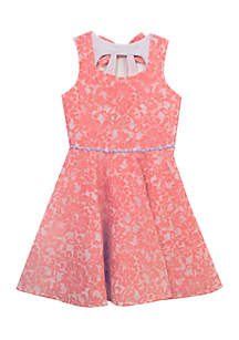 Lace Bow Back Party Dress Girls 7-16