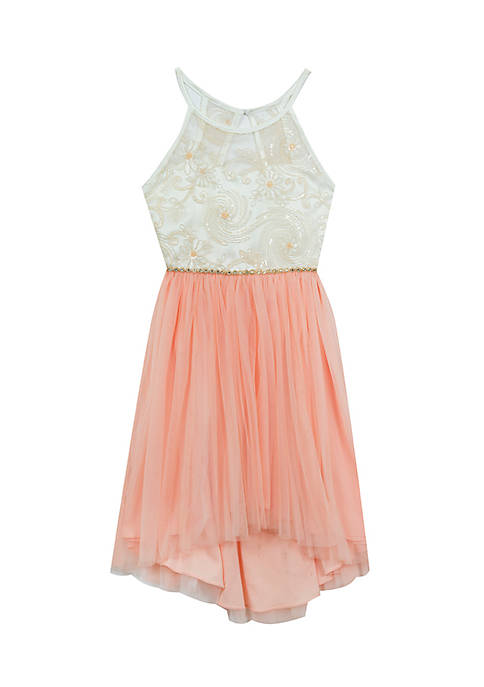 Rare Editions Lace Hi-Low Dress Girls 7-16