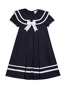 Rare Editions Girls 7-16 Traditional Nautical Midi Dress