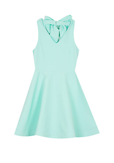 Rare Editions Girls 7-16 Mint Bow Back Skater