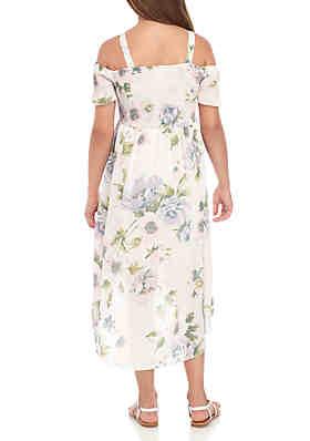 11becb0b405 ... Rare Editions Girls 7-16 Blush Floral Smocked Maxi Dress