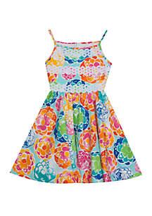 Rare Editions Girls 7-16 Floral Crochet Dress