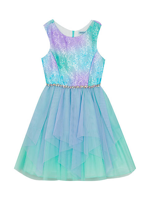 Rare Editions Girls 7-16 Mermaid Teal and Purple