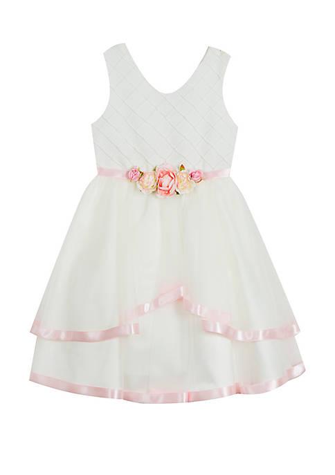 8748a5f9d40 Rare Editions Girls 7-16 Ivory Princess Linen Dress