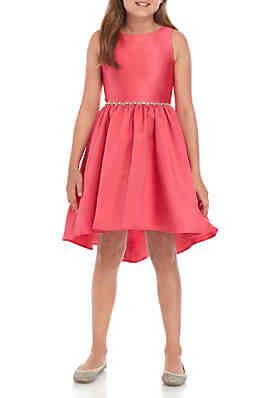 07e6a95b607 Rare Editions Girls 7-16 Fuchsia Mikado High Low Dress ...