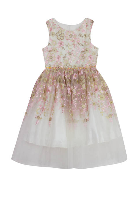 Rare Editions Girls 7-16 Formal Embellished Fit and