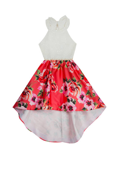 Rare Editions Girls 7-16 Floral High Low Dress