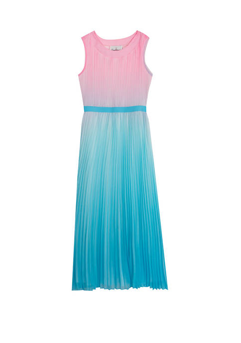 Rare Editions Girls 7-16 Ombre Pleated Maxi Dress