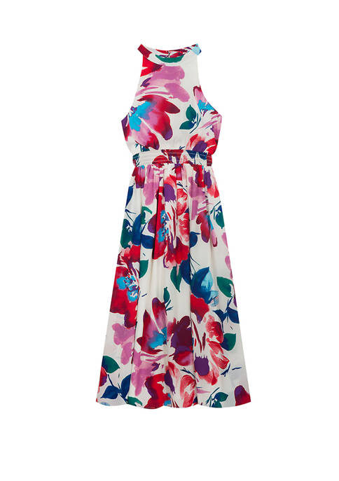 Rare Editions Girls 7-16 High Neck Floral Maxi