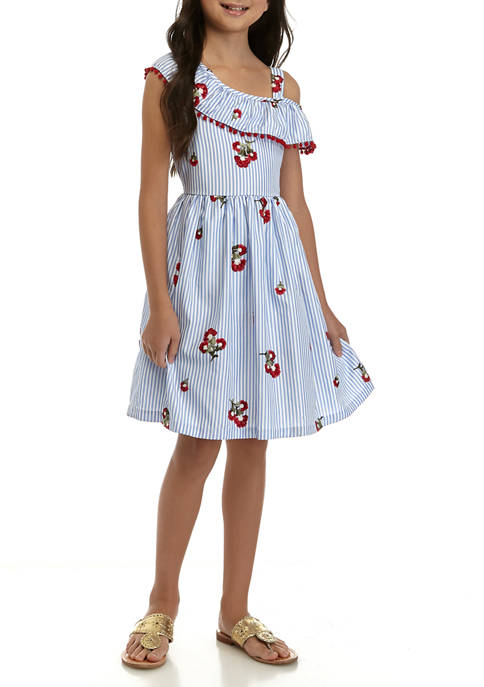 Rare Editions Girls 7-16 Embroidered Dress
