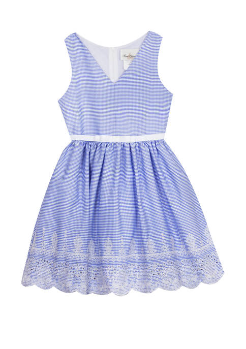 Rare Editions Girls 7-16 Belted Skater Dress with