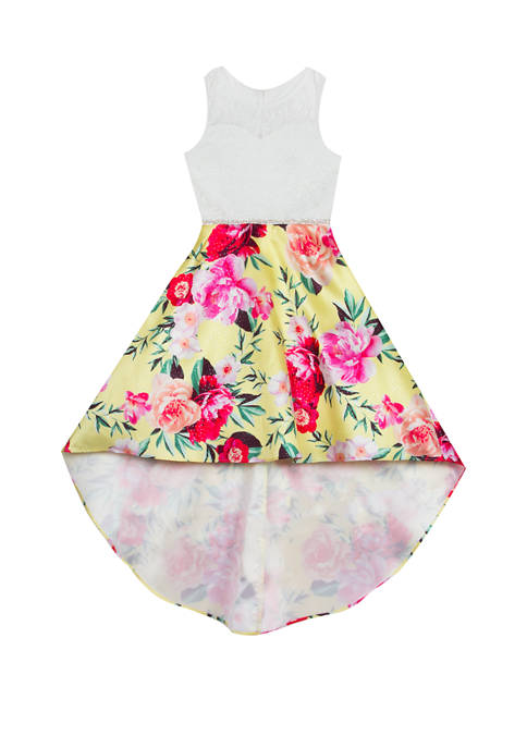 Rare Editions Girls 7-16 High Low Floral Dress