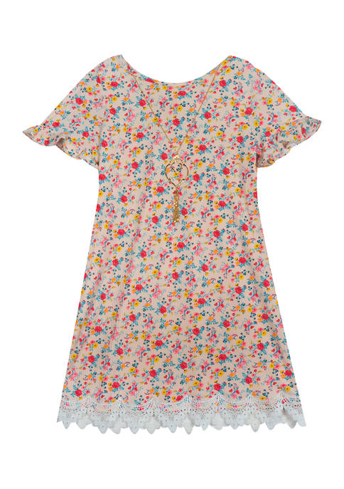 Rare Editions Girls 7-16 Rib Knit Dress with
