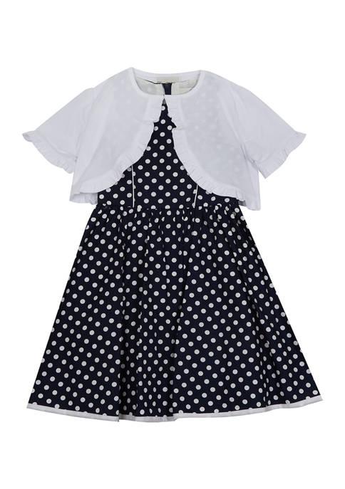 Rare Editions Girls 7-16 Printed Poplin Dress with