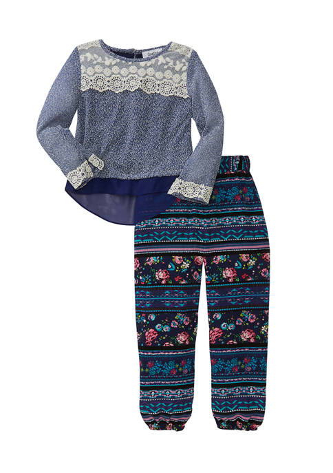 Counting Daisies Girls 4-6x 2 Piece Sweater Knit