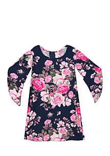 Girls 4-6x Floral Dress