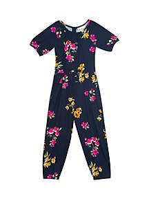 Rare Editions Girls 4-6x Floral Jumpsuit
