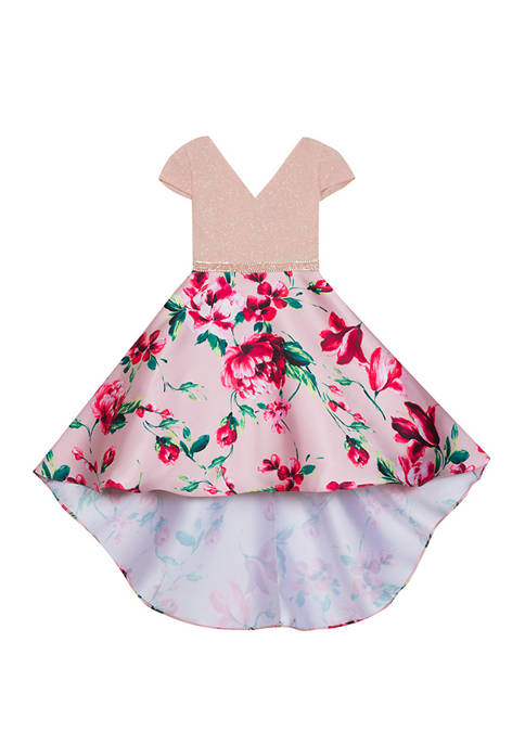 Rare Editions Girls 4-6x Floral High Low Dress